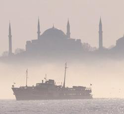 Kabataş Feribot on Bosporus Strait in Istanbul