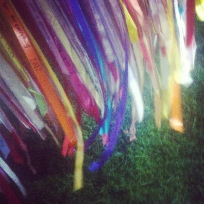 Prayer ribbons for 2012 Swim for Life in Provincetown, MA