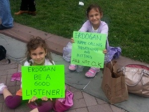 Turkish mammas in the making? Or the making of one very smart and caring activist Turkish mamma? (Image found on Bostonbullular website)