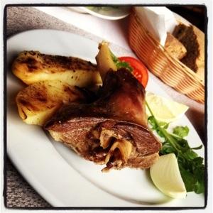 Lamb shank, slow-cooked (sorry vegan and veggie friends, I fell off the wagon) zt Mustafa Bey's Çiftlik Evi in Gaziveren, Northern Cyprus (Image by Liz Cameron)