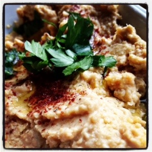 Hummus - not really a Turkish thing - but we were in Cyprus after all at Mustafa Bey's Çiftlik Evi in Gaziveren, Northern Cyprus (Image by Liz Cameron)