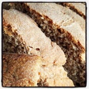 Fresh bread at Mustafa Bey's Çiftlik Evi in Gaziveren, Northern Cyprus (Image by Liz Cameron)