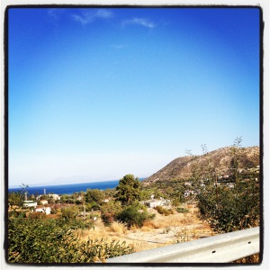Road overlooking the Mediterranean Sea near Yeşilırmak near the UN Buffer Zone in Northern Cyprus (Image by Liz Cameron)