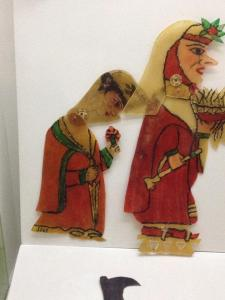 Two female puppets from the Karagöz puppet museum in Bursa - we visited there in June.